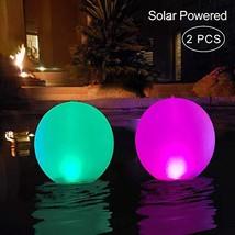 """Floating Pool Lights Inflatable Waterproof IP68 Solar Glow Globe,14"""" Outdoor Poo"""
