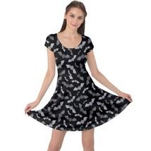 Women's Bat Silhouettes Printed Cap Sleeve Elastic Swing Dress (XS-5XL, ... - $28.99+
