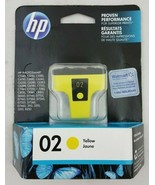 GENUINE HP 02 Yellow Ink Cartridge For For HP Photosmart C8773WN New - $10.68