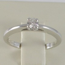 White Gold Ring 750 18K, Solitaire, Bezel Raised, Diamond Carat 0.20 image 2