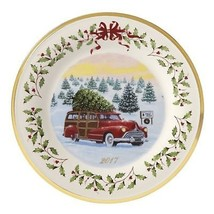 Lenox 2017 Station Wagon Holiday Plate Annual Woody Christmas Collectors... - $63.86