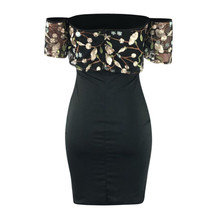 Womens dresses Elegant Embroidered Slesh Neck Slim Fit Sexy Party Dress Elegant  image 4
