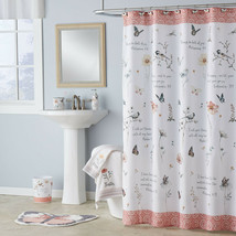 "Inspired Word Encouragement Fabric Shower Curtain, Modern, Biblical 70""x... - $25.63"