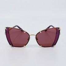 DOLCE & GABBANA DG2214 BUTTERFLY Sunglasses Gold/Black Cherry/Violet Mirror - $198.69