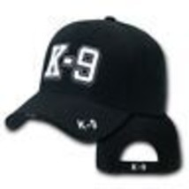 K-9 Police Embroidered Black Canine Hat Cap - $31.58