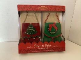 Hallmark Keepsake Ornament Sister To Sister Ornaments Set Of 2 2003 - $15.00