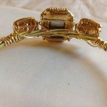 String Theory Guitar Strings Gold Bracelet w/ a Royal Blue Stone, Size 7 1/2 image 4