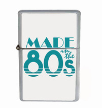 Made In The 80's Rs1 Flip Top Oil Lighter Wind Resistant With Case - $13.95