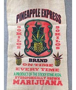 PINEAPPLE EXPRESS  POT LEAF MARIJUANA  BURLAP BAG  pot leaf hippie sack - $10.95