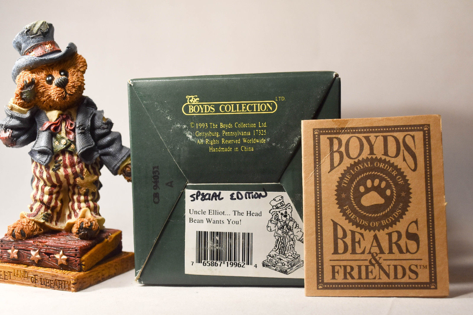 Boyds Bears: Uncle Elliot - The Head Bean Wants You - 195962 - Special Edition