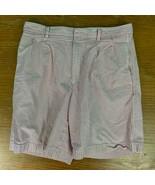 Cutter & Buck Men's 100% Cotton Striped Shorts - Size 34, Red & White, EUC - $14.99