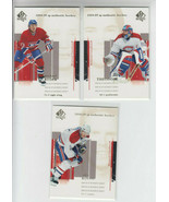 04/05 SP Authentic Montreal Canadiens 3 Cards - Ryder Theodore Koivu - $2.29