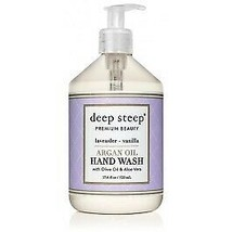 Argan Oil Hand Wash Lavender Vanilla Deep Steep 17.6 oz Liquid - $15.23
