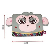 Cartoon Monkey Breathable Lumbar Support/Back Cushion Memory Foam, Gray