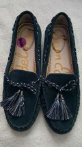 Sam Edelman Women's Jaden   Dark Blue Suede Leather Tassel Studded Flats 6 - $59.39