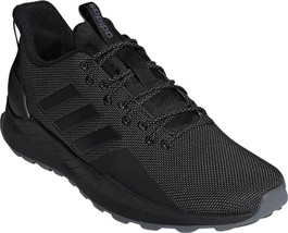 adidas Questar Trail Sneaker (Men's Shoes) in Black/Black/Grey Five - NEW - $94.45