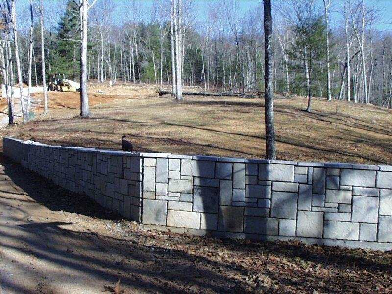 "6 Concrete Wall Cap Molds, Make Tile Pavers Fireplace Rock Mixed 10"" Sized Walls"