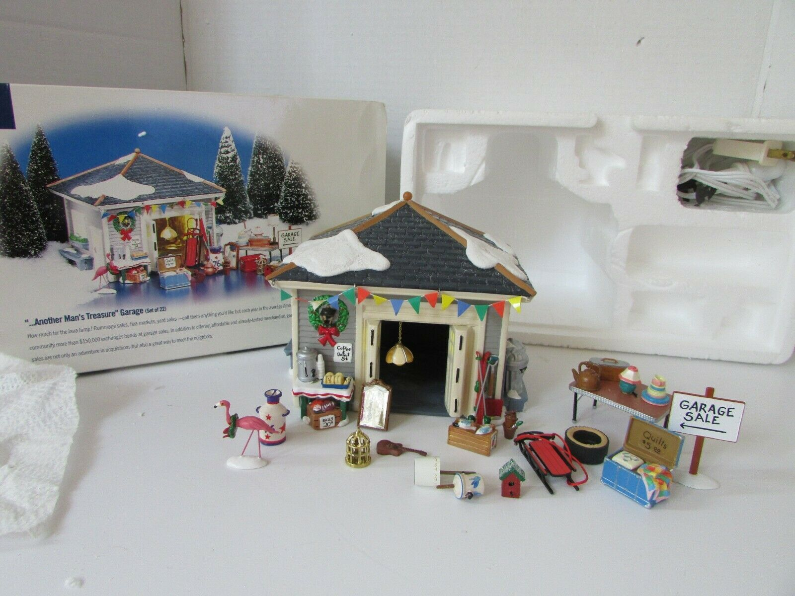 Primary image for DEPT 56 54945 ANOTHER MAN'S TREASURE GARAGE  SNOW VILLAGE BOXED D10