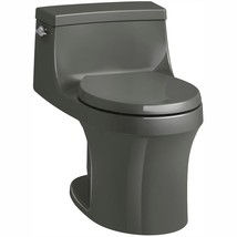 KOHLER One Piece Toilet 1.28 GPF Single Flush Innovative Technology Thunder Gray - $879.59