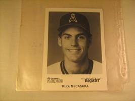 "KIRK McCASKILL California ANGELS 5"" x 7"" Photo ORANGE COUNTY REGISTER  [c4] - $7.20"
