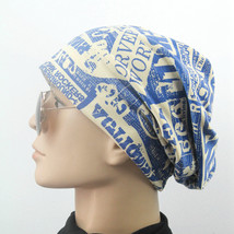 Unisex Letter Caps Hat Indian Pleated Turban Headwrap Hair Wrap Cover Ca... - $9.63