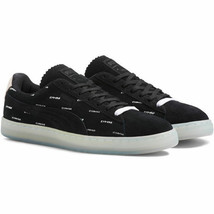 PUMA Suede V2 Pink Dolphin Black 365031-01 sz 8.5 meek mill Low Top Snea... - $69.29