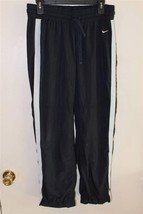 A3306 Womens NIKE Athletic Dept. Navy Blue Warm Ups Track PANTS Medium - $13.55