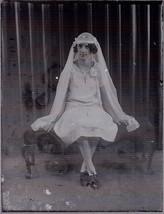 Lot 4 Glass Negatives Slides Antique Photo Photography Dress Up Communio... - $44.00