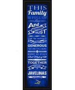 Texas A&M University–Kingsville Javelinas 24 x 8 Family Cheer Framed Print - $39.95