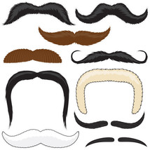 Mr. Moustachio's Stach'oos, 10 Temporary Tattoo Mustaches - $12.95