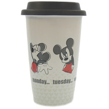 Disney Parks Mickey Throught Friday Ceramic Coffee Travel Mug New - $26.42
