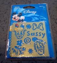 Disney Brass Stencil Daisy and Donald sassy Plaid all night media New em... - $7.66