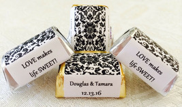 210 DAMASK PATTERN Personalized Candy labels/wrappers/stickers for wedding/party - $12.86