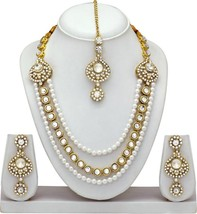 Indian Bollywood Wedding Gold Plated Pearl Kundan Fashion Jewelry Wholes... - $24.75+