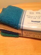 Washcloth Pack 18 Count Blue White Teal Black NEW - $14.84
