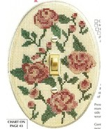Y069 Cross Stitch PATTERN ONLY Rose Light Switch Cover Chart Pattern - $7.50