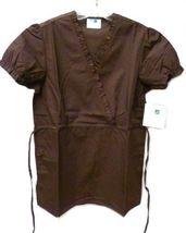 Brown Scrub Set XL V Neck Top Drawstring Pants Women's Medical Uniforms #616/701 image 4