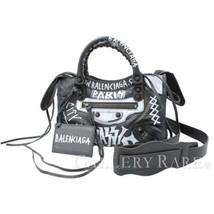 BALENCIAGA Classic Mini City Gray Lambskin Handbag 300295 Authentic 4951094 - $1,556.15