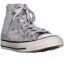 Converse Ctas Hi High Top Sneakers, Wolf Grey/Black/Whit, 6.5 US / 37 EU - $54.71