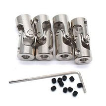 Sydien 4mm to 4mm Bore Rotatable Universal Joint Coupling RC Robot Boat Car Shaf image 1