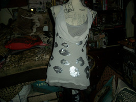 REMAIN Adorable Heather Gray Sequin Draped Tank Size S - $8.91