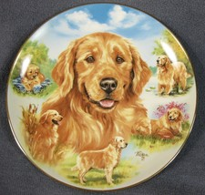 Heart Of Gold Collector Plate For The Love Of Goldens Linda Picken Bradf... - £16.93 GBP