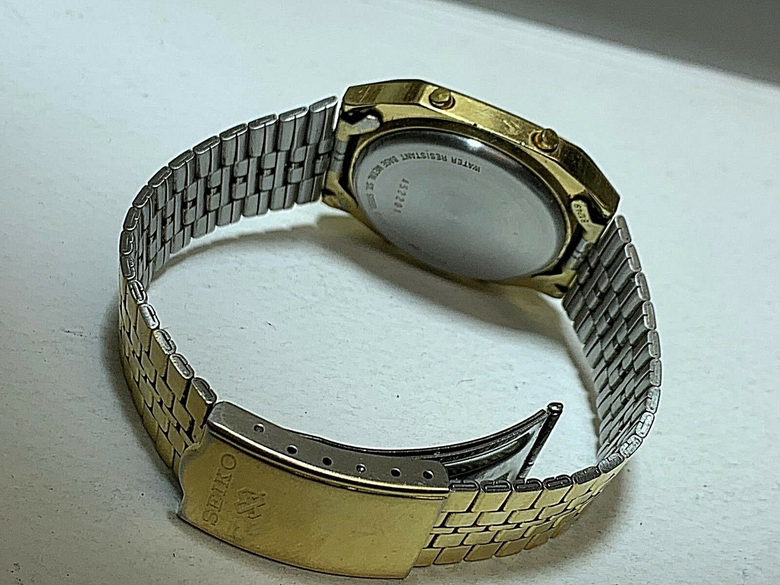 SEIKO VINTAGE DIGITAL A914-5A09 IN GOOD CONDITION FULL FUNCTIONAL GOLD TONE image 2