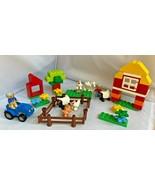 LEGO Duplo 2012 My First Farm (6141) Tractor, Farm Animals, Barn. Used &... - $43.51
