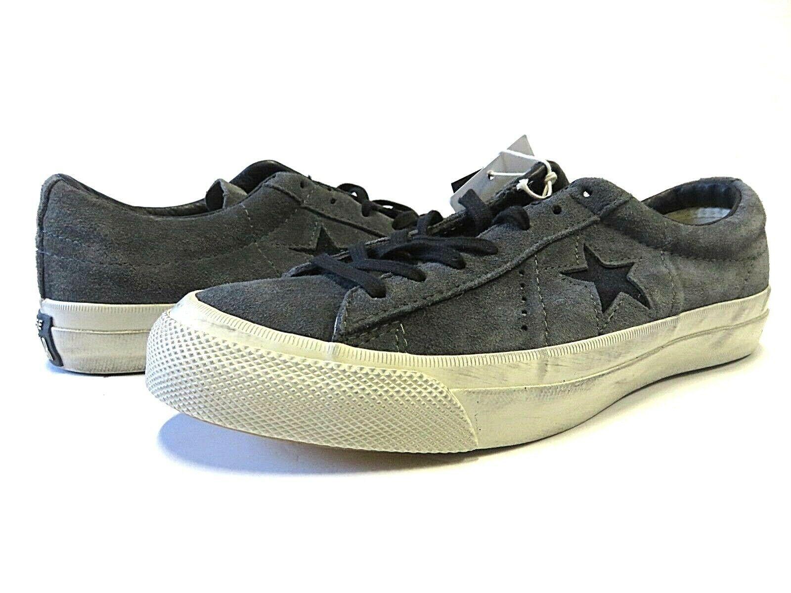 NEW Converse x John Varvatos Grey Star Shoes Size Men's 5.5 Women's 7.5 Low Top