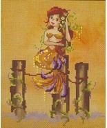 """""""MERMAID BY THE SUNSET"""" COMPLETE  MATERIALS with 16 count aida - $44.54"""