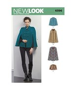 New Look Sewing Pattern 6396 / S0380 Autumn Collection Misses' Capes & C... - $14.73