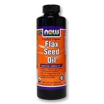 Now Foods Organic Flax Seed Oil - 12 fl oz - $17.06