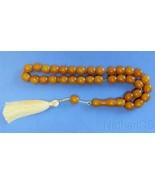 Tesbih Worry Beads Faturan Type Resin of Kahraman Amber Color Vintage 19... - $113.85