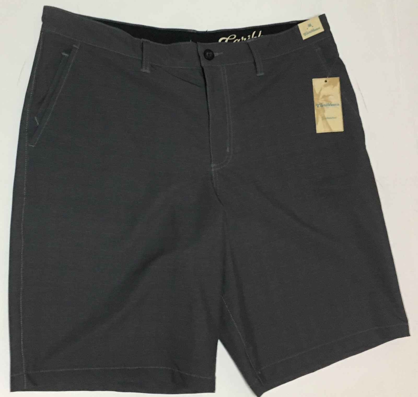 Men's Caribbean Hybrid Shorts Land to Water Sz 36 Gray NWT